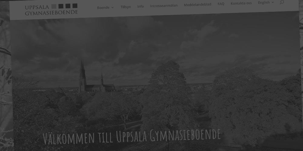 Ny webbsajt till Uppsala Gymnasieboende